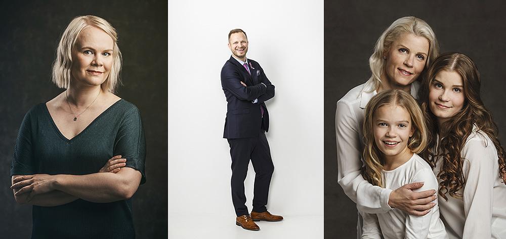 Valokuvaamo jossa henkilökuvaus yrityskuvaus perhekuvaus studiossa Tampere ja Pirkanmaa